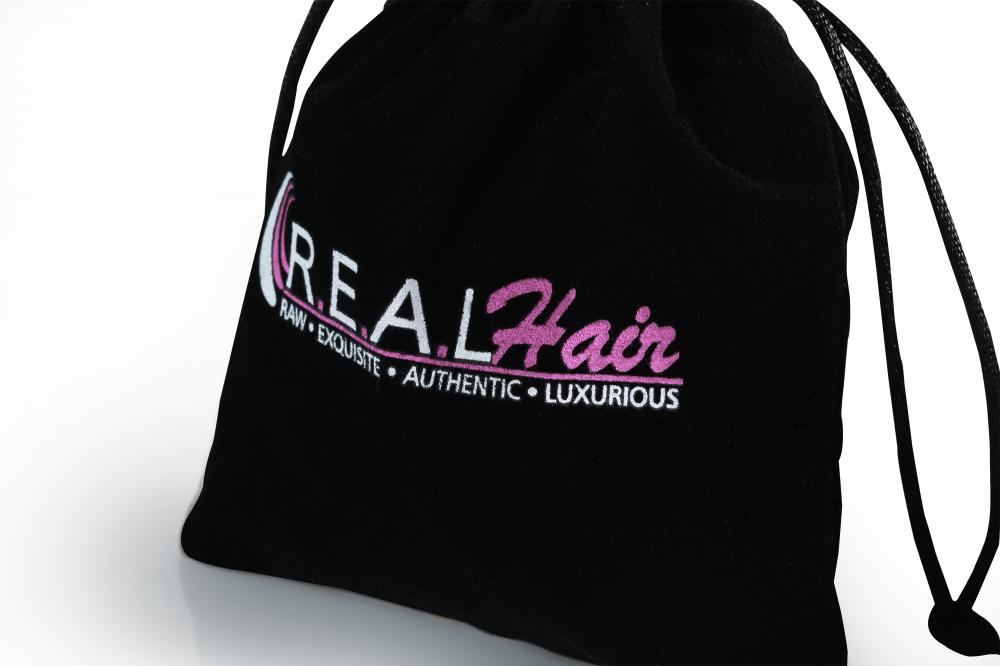 Cheaper velvet bag with two color printing