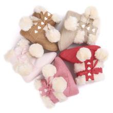 Botas de inverno infantis cor 5 moda fiapo sola macia sapatos de bebê
