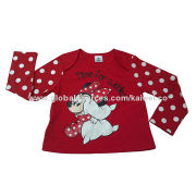 Babies' Long-sleeved T-shirt, Placement Print, Fashionable Design, Lovely Style/Comfortable to Wear
