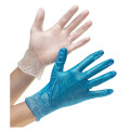 Hot sale blue disposable Medical examination vinyl glove