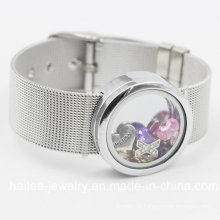 Fashion Stainless Steel Jewelry Bracelet with Locket Pendant