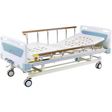 Equipo médico Cama de hospital de dos ventiladores con motor Fowler movible