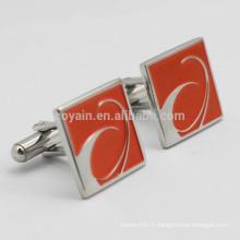 Logo de boutons de manche personnalisé avec votre conception