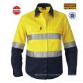 Lange Hülse 100% Baumwollbohrgerät Hallo Vis Großhandel Sicherheit Hemden