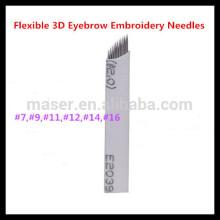 9 Needle Blades für manuelle Permanent Make-up Tattoo Feather Touch Augenbraue Pen