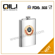 wholesale 6oz food frade stainless steel gold hip flask