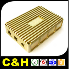 Polished Brass CNC Milled Wire EDM Cutted Parts