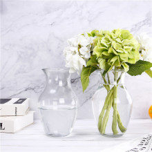 Custom Clear Flower Home Decoration Glass Vase Pot for Wedding Favors