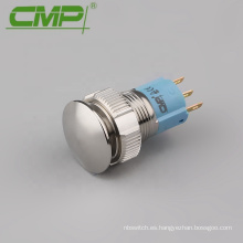 Interruptor de empuje de metal antivandalismo de cabeza esférica de 30 mm 1NO1NC