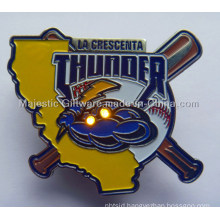 Zinc Die Cast Soft Enamel LED Light Baseball Pin