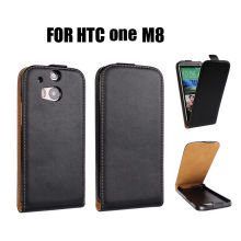 Soft Genuine Leather Phone Case , Flip Htc One M8 Black Phone Covers