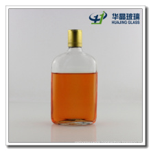 375ml Flat Glass Whiskey Wine Bottle