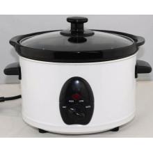 Cocina caliente de cerámica redonda de la venta caliente 2.5liter con la tapa de cristal