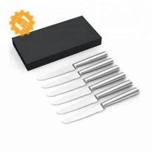 Juego de cuchillos serrados de 6 piezas de acero inoxidable de alta calidad.
