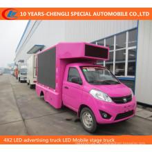 4X2 LED Publicidade Caminhão LED Mobile Stage Truck