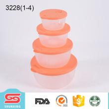 La cuisine utilise une capacité différente ronde des récipients de stockage de nourriture en plastique transparent avec des couvercles