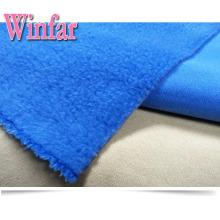 Tissu polaire 100% polyester en peluche en tricot