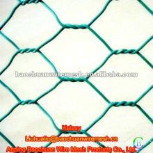 Grüner PVC beschichteter Hühnerdrahtzaun