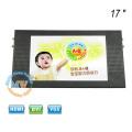 Top de montagem TFT monitor de TV de ônibus de carro de 17 polegadas com tela HD