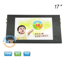 Top mounting TFT color 17 inch car bus TV monitor with HD display