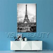 Romantic Paris Eiffel Tower Imágenes Pintura Lienzo Impresión