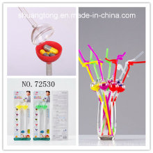 Party Decoration Tableware Reusable Multifunctional Plastic Drinking Straw