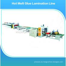 Hot melt stick laminación de la máquina / hot melt pegamento roll máquina