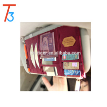 China Multi-purpose Auto Car Sun Visor Organizer Card Storage Holder Pouch Bag