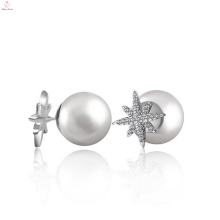 2017 Atacado Sterling Silver Round Earring Studs