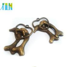 Encantos de estilo antigo de prata tibetana para pulseira CH118 #