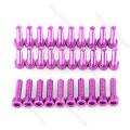 M3 anodizado cualquier color hexagonal de aluminio tornillos y tuercas