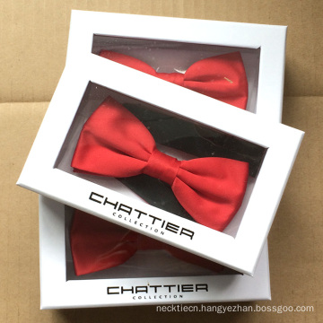 Red Mens Bowtie Packaging Made Gift Custom Bow Tie Box