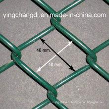 Ограждение с защитным покрытием из ПВХ / временная цепь Забор / Спортивный забор
