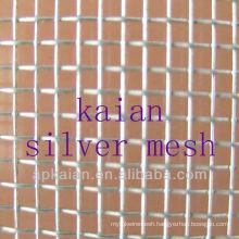 99.99 pure silver woven wire mesh