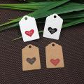 Cartões de exposição de papel para colares reciclados