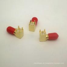 Adaptador de ângulo reto RP SMA para montagem de PCB