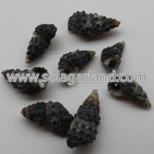 18-28MM black natural shell beads charms for jewellry making