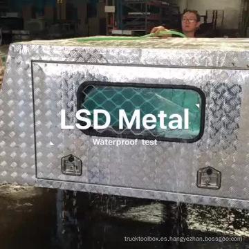 Toldo impermeable de doble cabina de aluminio de gran potencia con gatos de elevación