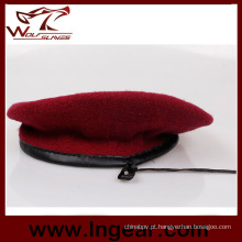 Boina militar exército boina boina vermelha boina de lã de 100%