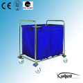 Canvas Bag Stainless Steel Hospital Medical Laundry Collecting Trolley (Q-6)