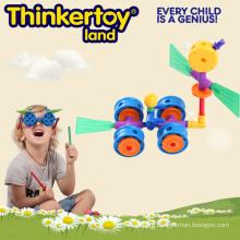 Урожай Цвет Пластиковые Строительство Blcoks Детские игрушки