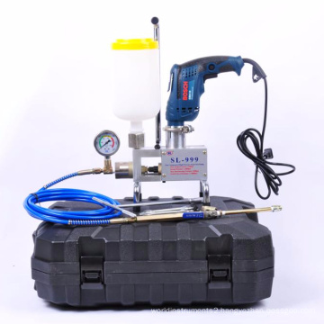 SL-999 polyurethane high pressure grout machine for waterproof with Bosch drill