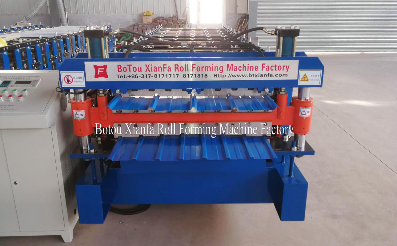 metal roofing panel roll forming machine