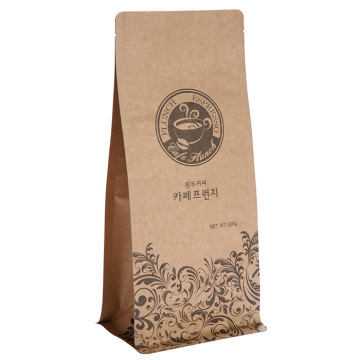 Płaskie dno Kraft Paper Coffee Bag