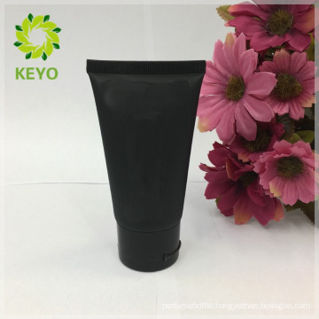 Black matte cosmetic tubes frosted cosmetic cap tube black skincare packaging