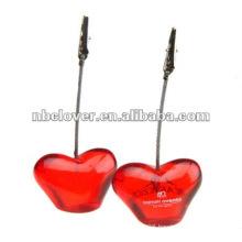 heart shape resin clip memo holder