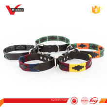 Colorful New genuine leather dog collar