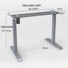 Single Motor Electric Lift Height Adjustable Desk Frame