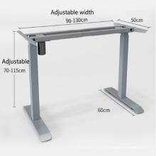 Marco de escritorio ajustable en altura con elevación eléctrica de un solo motor