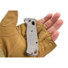 Customs Made Titanium Alloy Scales Handle Knife